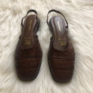 NWOT Naturalizer Braided Leather slingback sandals